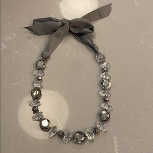 Stella & Dot necklace in gray
